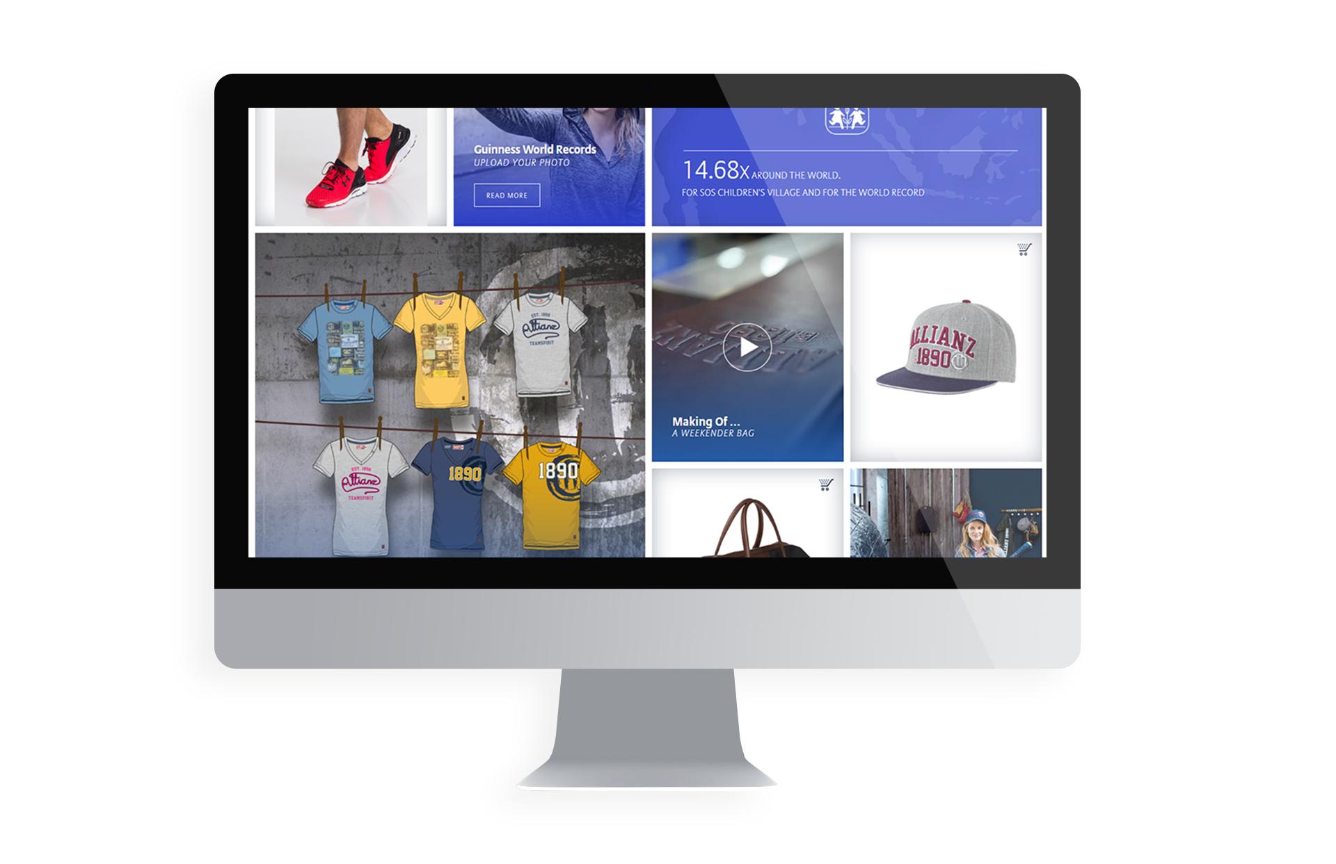 Allianz SE webdesign shop webshop ecommerce website design responsive LAKE5 Consulting GmbH Hannover Germany