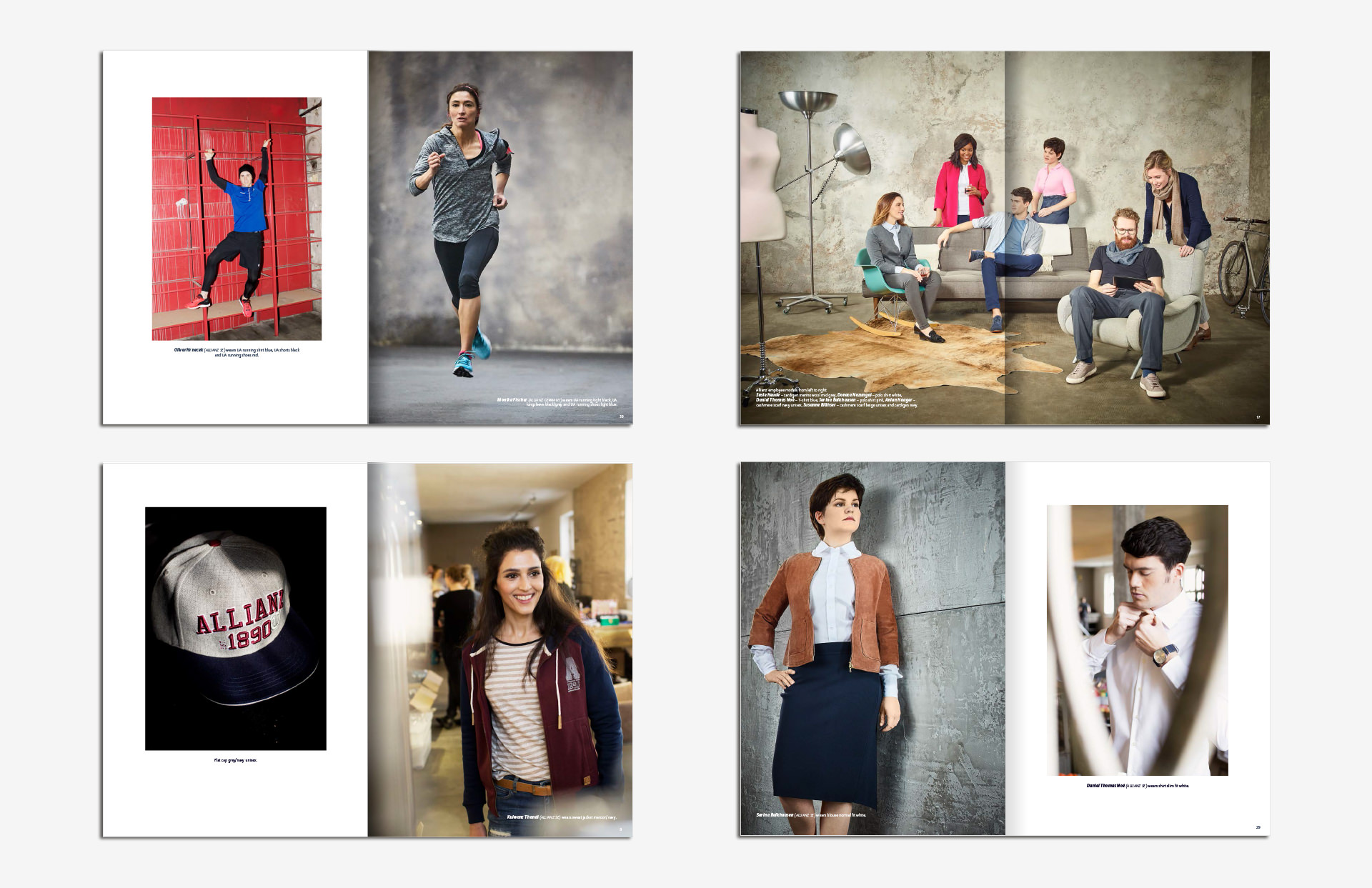 Allianz SE catalog katalog Marketing Strategy design fashion collection shooting running 1890 blue world business layout print LAKE5 Consulting GmbH Hannover Germany