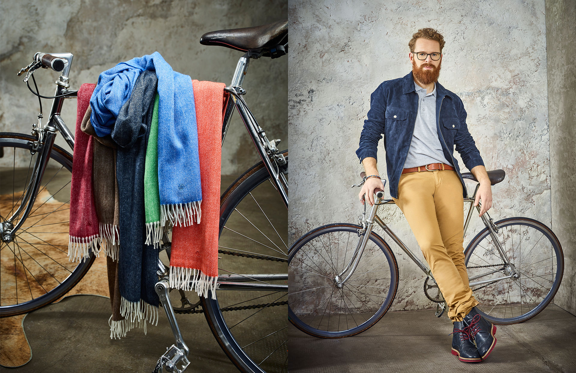 Allianz SE catalog katalog Marketing Strategy design fashion collection shooting blue world scarf bike layout print LAKE5 Consulting GmbH Hannover Germany