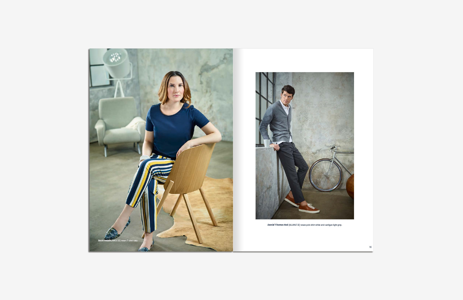 Allianz SE catalog katalog Marketing Strategy design fashion collection shooting blue world layout print LAKE5 Consulting GmbH Hannover Germany