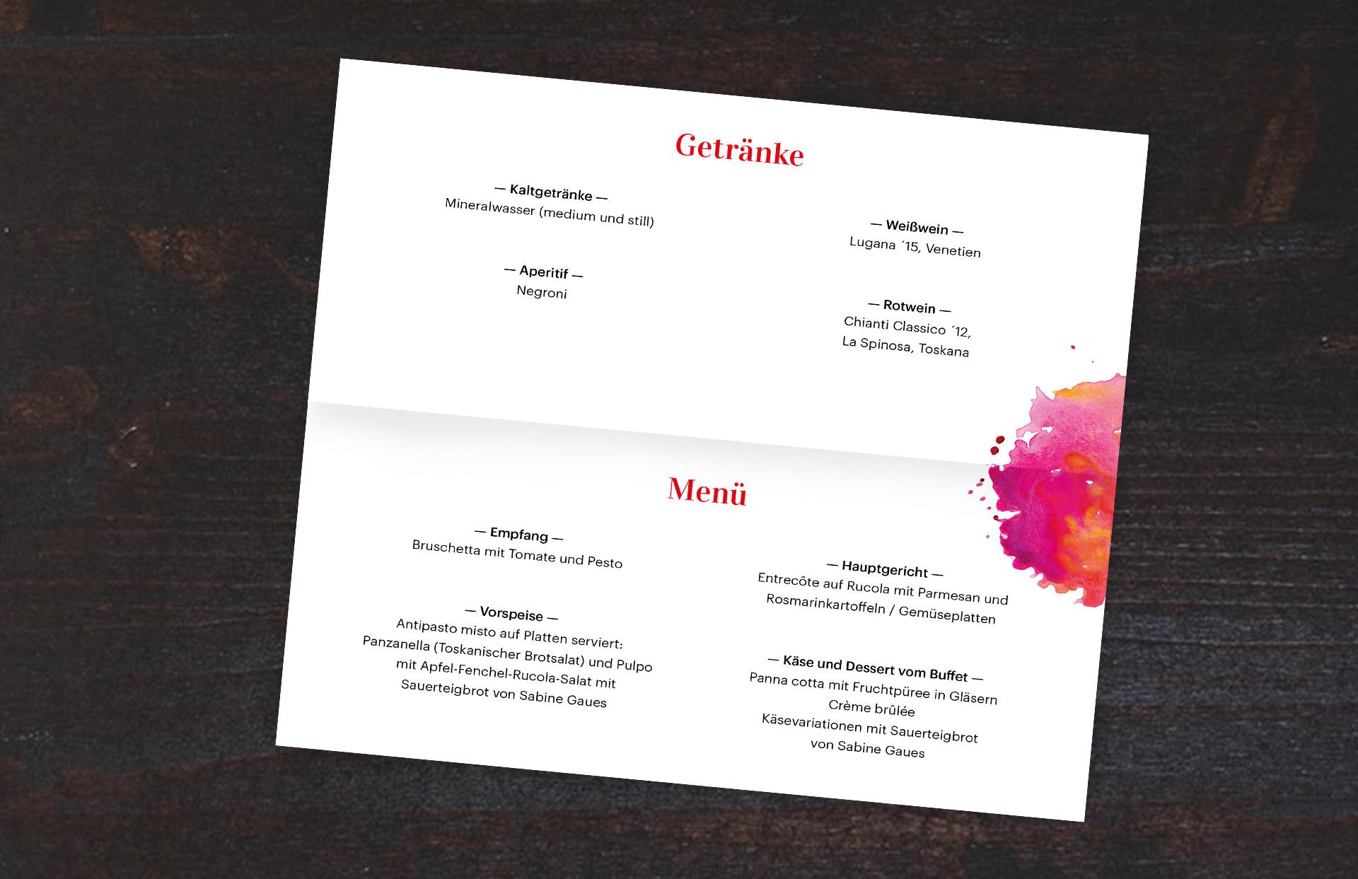 Förderkreis Kestnergesellschaft Kestner Design Print Druck Marketing Diner des Beaux Arts Essen Abend Tusche Wasserfarbe Kampagne Campaign Save the Date Pinsel kreativ Tisch Abendessen LAKE5 Consulting GmbH Hannover Germany